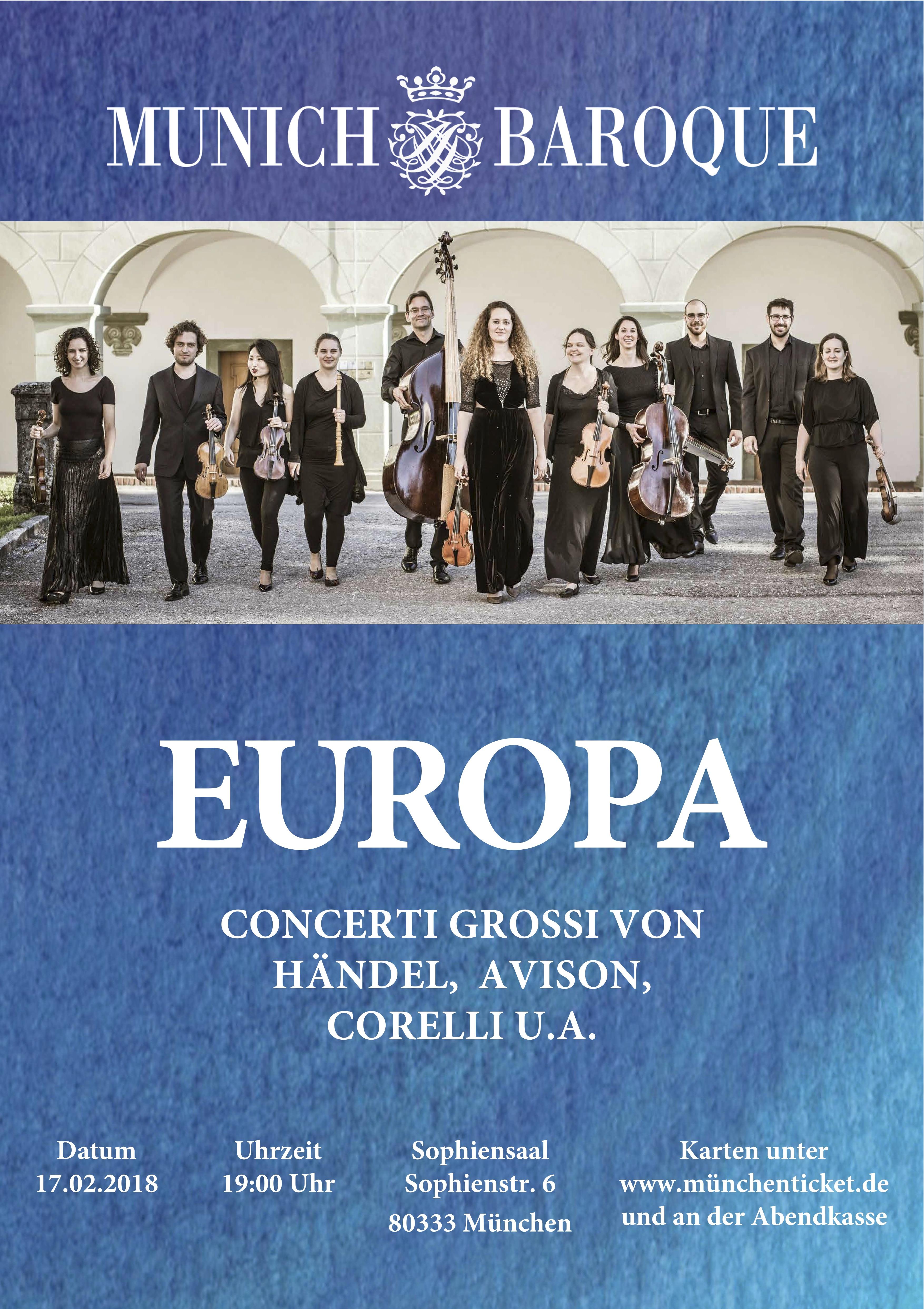 Europa – Concerti grossi von Händel, Avison, Corelli u.A.